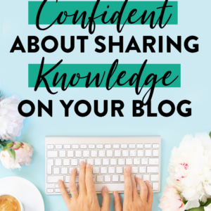 Confidence in running a blog business