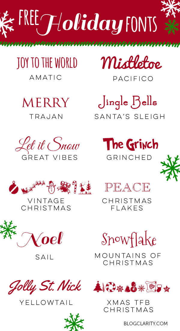 12 free holiday fonts perfect free fonts for holiday cards holiday party invitations - Christmas Fonts Free