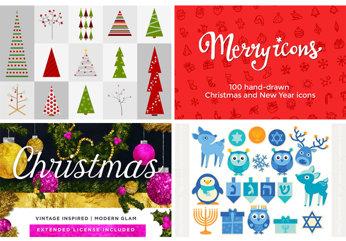 12 Free Holiday Fonts - perfect free fonts for holiday cards, holiday party invitations, printables, gift guides, and more- extra design elements to go with your new fonts