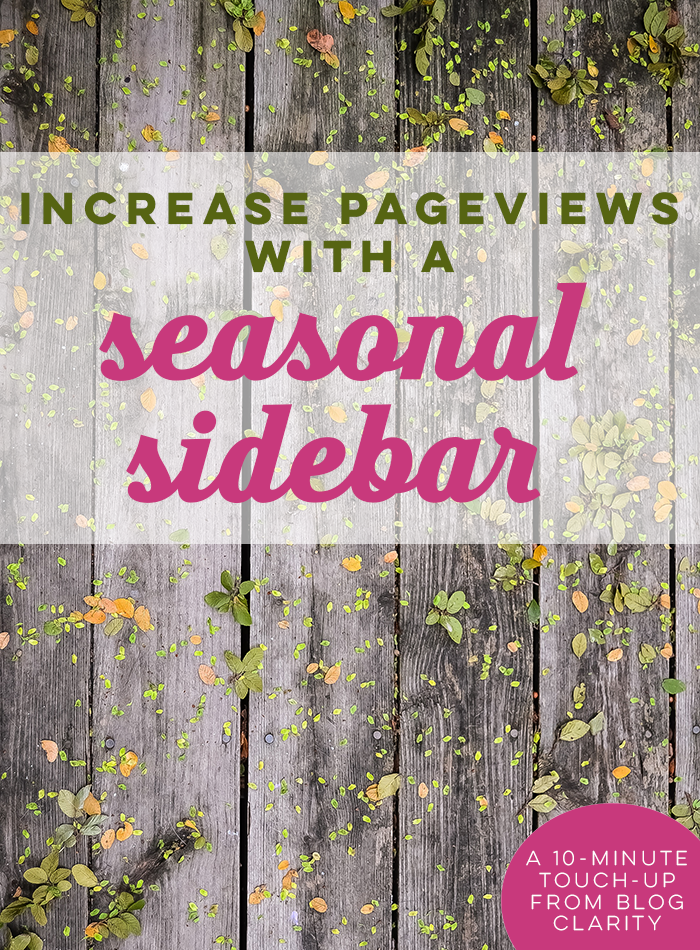 Easy blog design tip to drive pageviews on your blog! Perfect blogging tip for holidays, special events, and weather seasons.