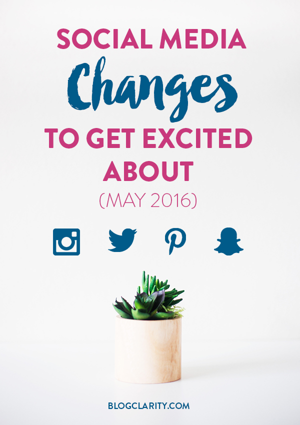Some major things are happening with your favorite social media platforms! Check out these major updates for Instagram, Twitter, and Pinterest (and a fun one for Snapchat).