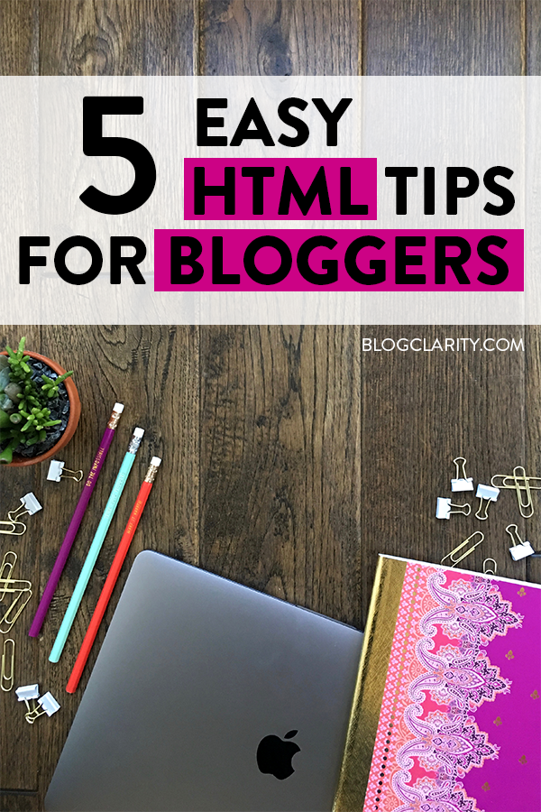 HTML basics that every blogger or online entrepreneur should know! Learn these simple HTML code tips that will come in handy over and over again.