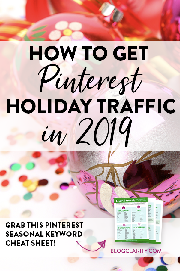 Pinterest holiday traffic for 2019